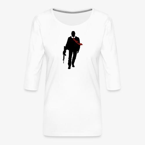 PREMIUM SO GEEEK HERO - MINIMALIST DESIGN - T-shirt Premium manches 3/4 Femme