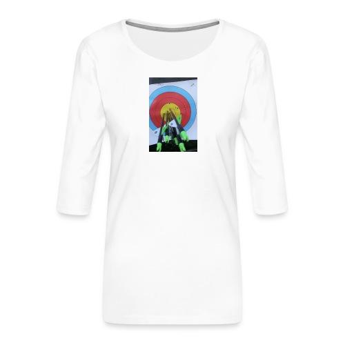 F1C5C2F0 28A3 455F 8EBD C3B4A6A01B45 - Premium T-skjorte med 3/4 erme for kvinner