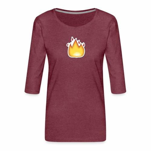 Liekkikuviollinen vaate - Naisten premium 3/4-hihainen paita