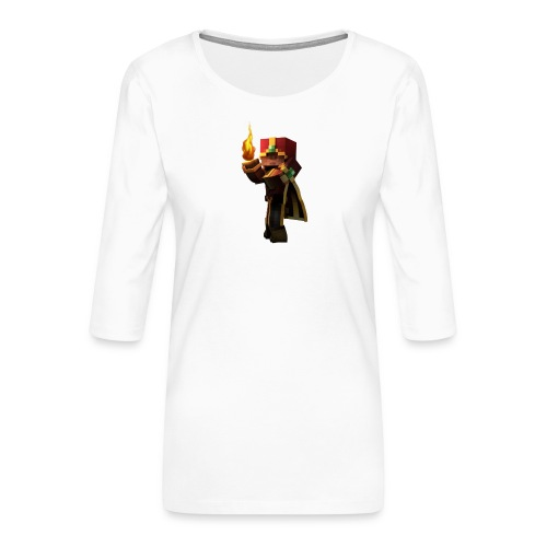 Musmatta - Premium-T-shirt med 3/4-ärm dam