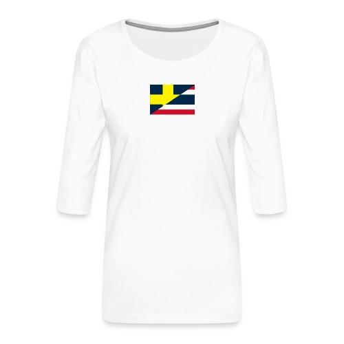 thailands flagga dddd png - Premium-T-shirt med 3/4-ärm dam