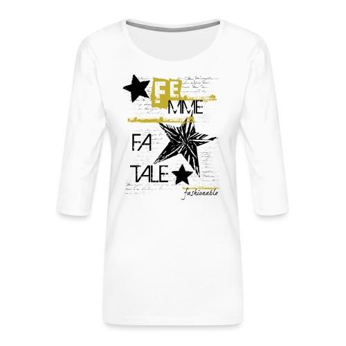 fatale - Maglietta da donna premium con manica a 3/4