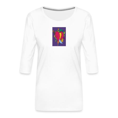 Cuore - Maglietta da donna premium con manica a 3/4