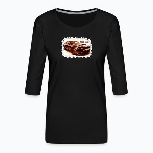 voiture - T-shirt Premium manches 3/4 Femme
