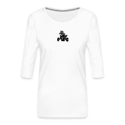Motocross QuadLady - Frauen Premium 3/4-Arm Shirt
