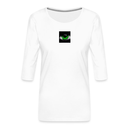 Green eye - Women's Premium 3/4-Sleeve T-Shirt