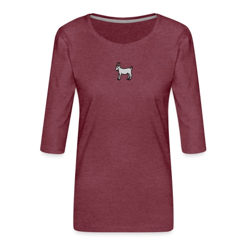 Ged T-shirt dame - Dame Premium shirt med 3/4-ærmer