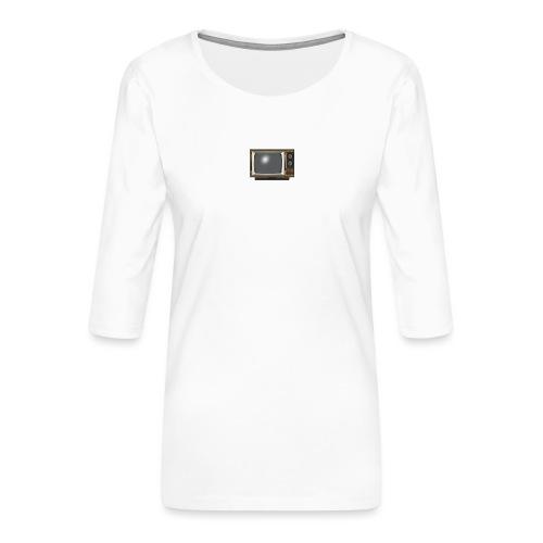 la télé - T-shirt Premium manches 3/4 Femme