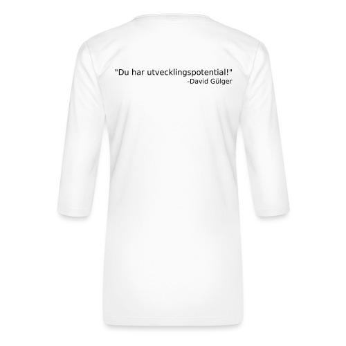 Ju jutsu kai förslag 1 version 1 svart text - Premium-T-shirt med 3/4-ärm dam