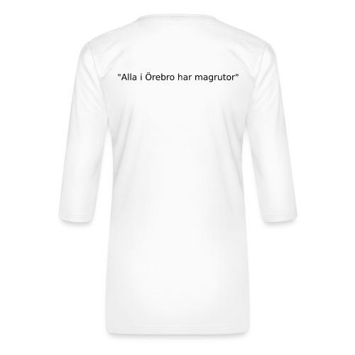 Ju jutsu kai förslag 2 version 1 svart text - Premium-T-shirt med 3/4-ärm dam