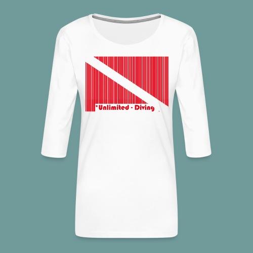 flag_barre_ud - T-shirt Premium manches 3/4 Femme