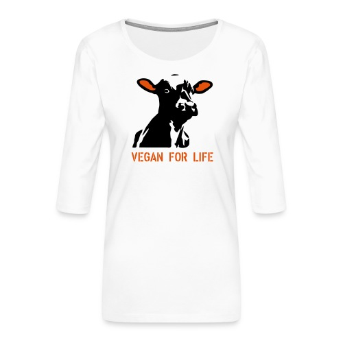 colorida vegan for life - Frauen Premium 3/4-Arm Shirt