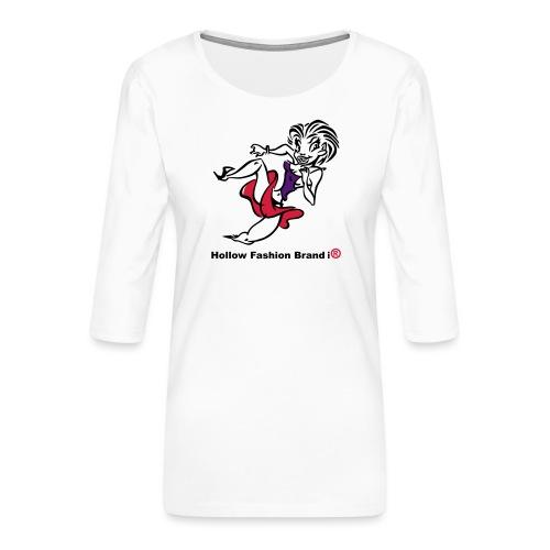 Hollow Fashion Brand i® - Women's Premium 3/4-Sleeve T-Shirt