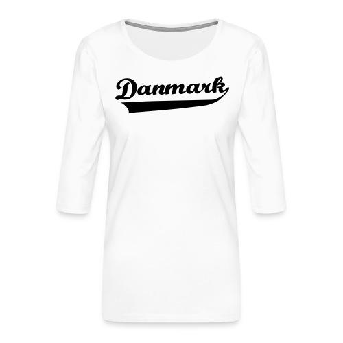 Danmark Swish - Dame Premium shirt med 3/4-ærmer