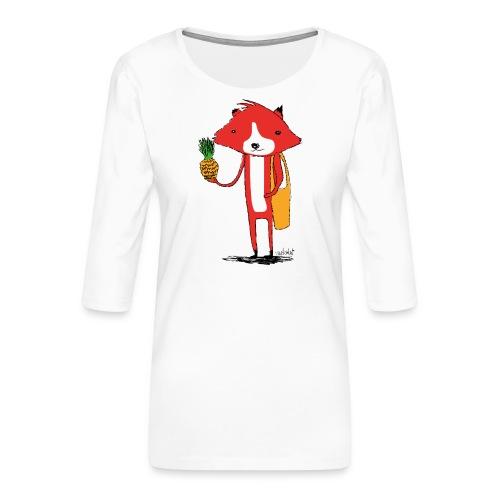 Ananasfüchslein - Frauen Premium 3/4-Arm Shirt