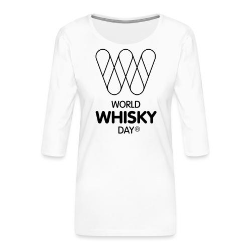 WWD logo - Women's Premium 3/4-Sleeve T-Shirt