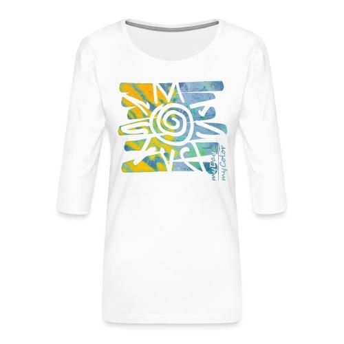 SunRise - Frauen Premium 3/4-Arm Shirt