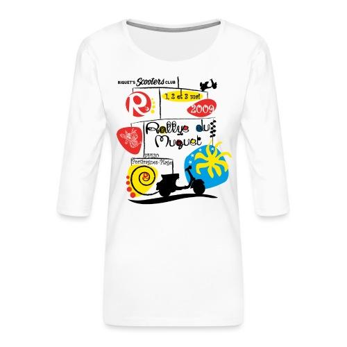 Rallye du Muguet 2009 - T-shirt Premium manches 3/4 Femme