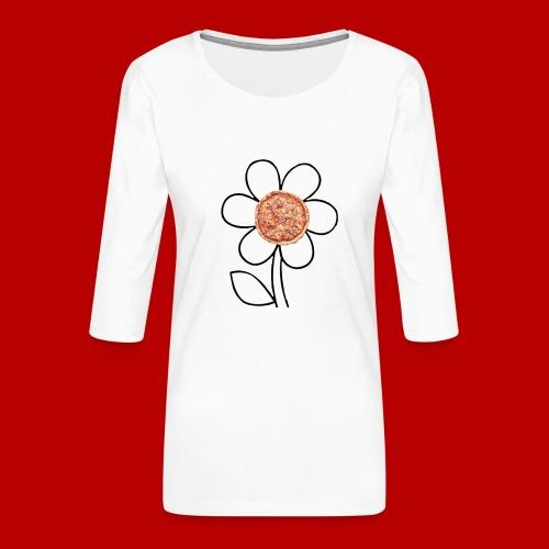 Pizzaflower Edition - Frauen Premium 3/4-Arm Shirt
