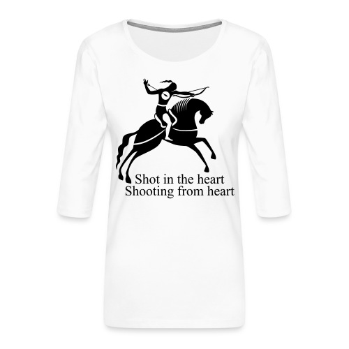 Shot in the Heart - Women's Premium 3/4-Sleeve T-Shirt
