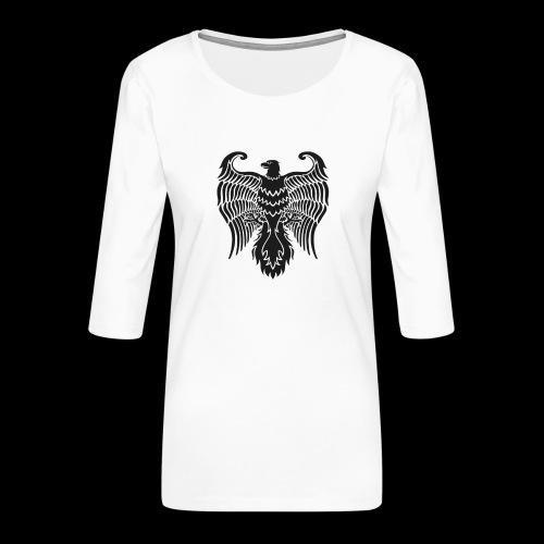 HAUKKA ei tekstia - Naisten premium 3/4-hihainen paita