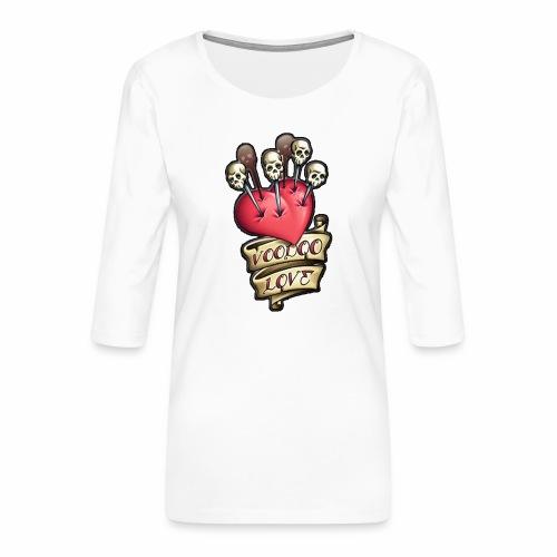 AMOR VOODOO - Camiseta premium de manga 3/4 para mujer