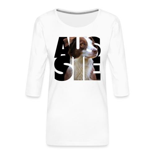 Aussie II - Naisten premium 3/4-hihainen paita
