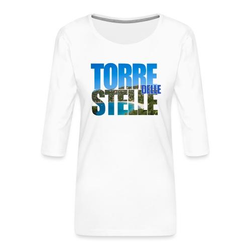 TorreTshirt - Maglietta da donna premium con manica a 3/4
