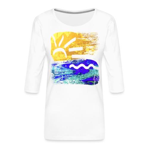 StrandEntlang - Frauen Premium 3/4-Arm Shirt