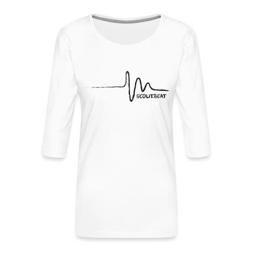 SCOUT.beat – Herzschlag – Schwarz - Frauen Premium 3/4-Arm Shirt
