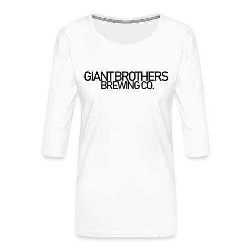 Giant Brothers Brewing co SVART - Premium-T-shirt med 3/4-ärm dam