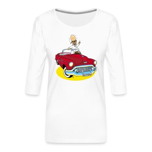 Herr Bohnemann im Buick - Frauen Premium 3/4-Arm Shirt