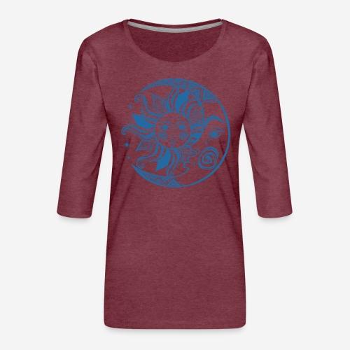 Sonnenmond Astrologie - Frauen Premium 3/4-Arm Shirt