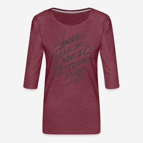 letters font alphabet - Frauen Premium 3/4-Arm Shirt