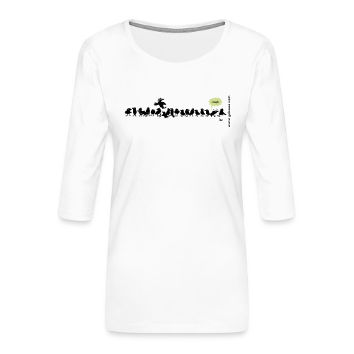 Corvids - det er en mengde! - Premium T-skjorte med 3/4 erme for kvinner