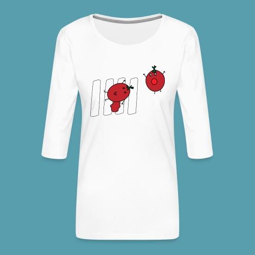 tomaatit - Naisten premium 3/4-hihainen paita