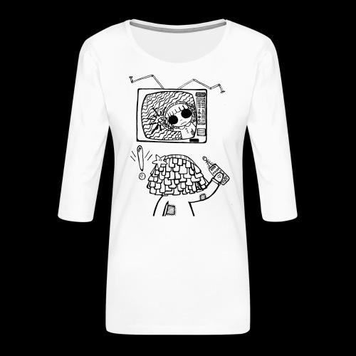 dehidre 1 - Camiseta premium de manga 3/4 para mujer