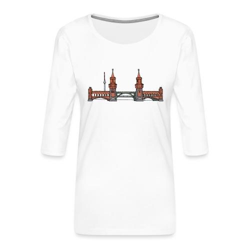 Oberbaumbrücke BERLIN - Frauen Premium 3/4-Arm Shirt