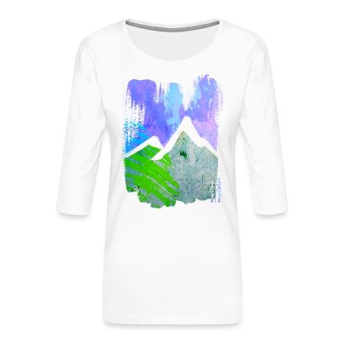 BergMorgen - Frauen Premium 3/4-Arm Shirt