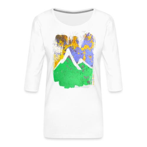 BergAbend - Frauen Premium 3/4-Arm Shirt