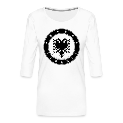 Patrioti Albania Black - Frauen Premium 3/4-Arm Shirt