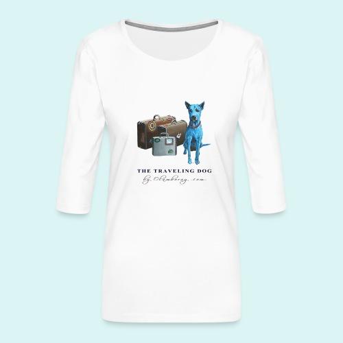 Laly Blue Big - Women's Premium 3/4-Sleeve T-Shirt