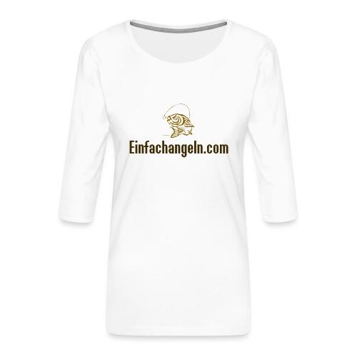 Einfachangeln Teamshirt - Frauen Premium 3/4-Arm Shirt