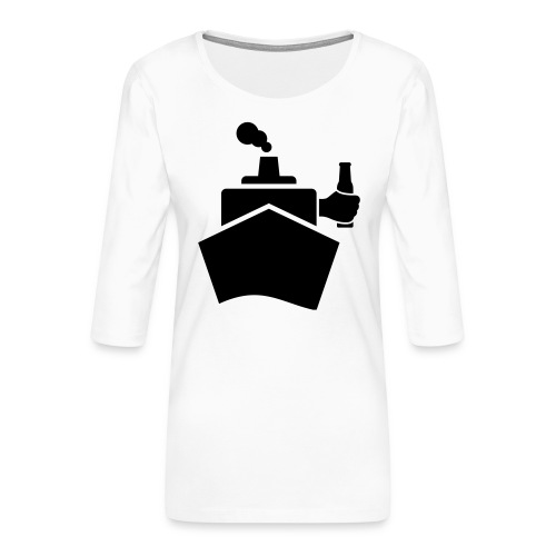 King of the boat - Frauen Premium 3/4-Arm Shirt