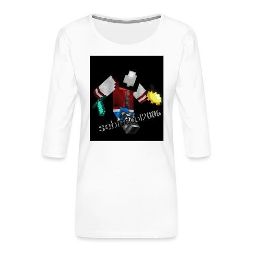Sebastian yt - Dame Premium shirt med 3/4-ærmer