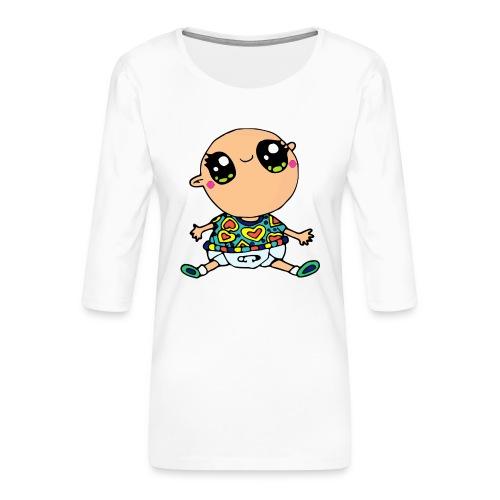 Louis le bébé - T-shirt Premium manches 3/4 Femme