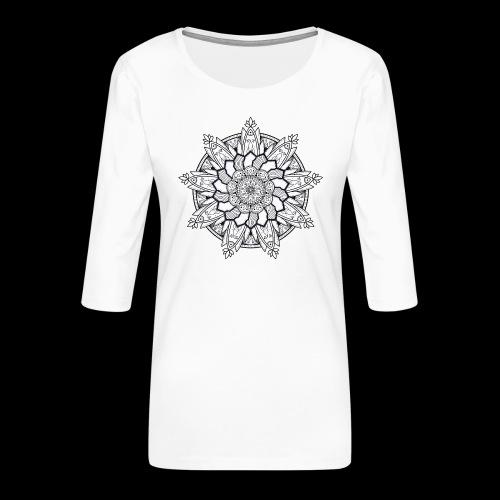 Mandala - Maglietta da donna premium con manica a 3/4