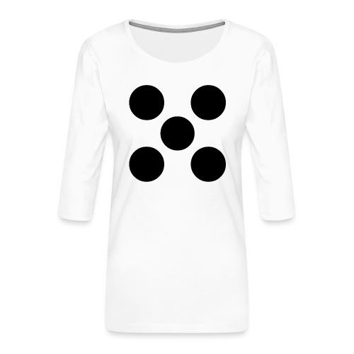 Dado - Camiseta premium de manga 3/4 para mujer