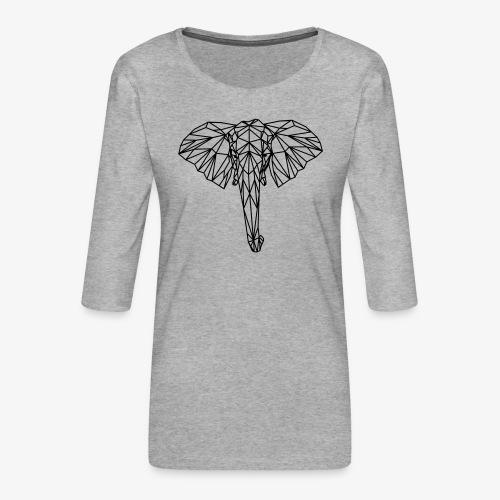 elephant - Maglietta da donna premium con manica a 3/4