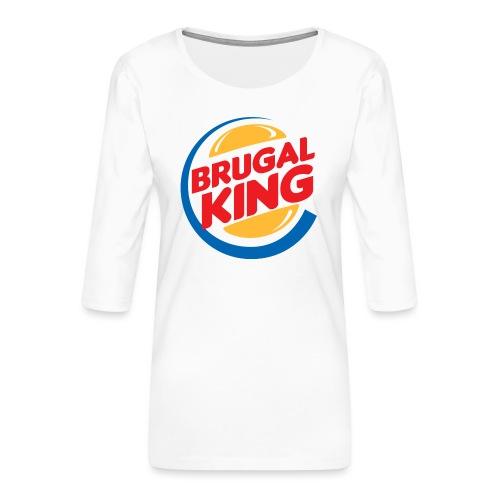 Brugal King - Camiseta premium de manga 3/4 para mujer